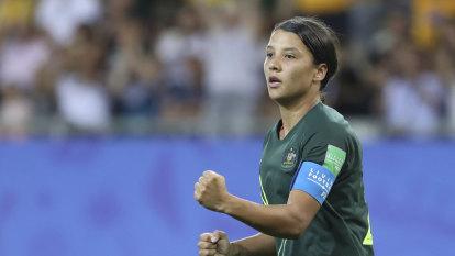 Matildas star Kerr remains cool in face of worldwide demand