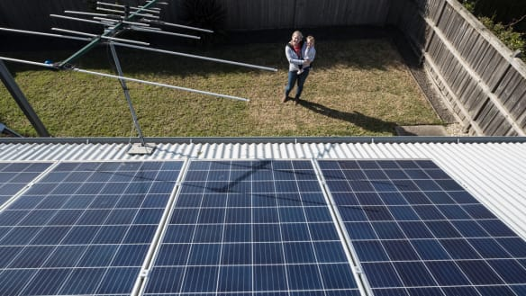 Sun shines on Labor's solar scheme as Liberal energy war flares up