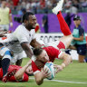 Wales overcome close call with Fiji to reach World Cup quarter-finals