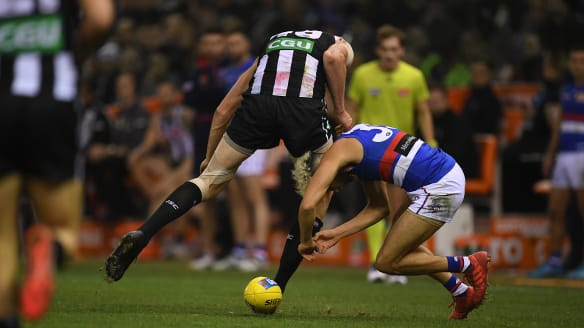 Magpies take flight after slow start to roll over Dogs
