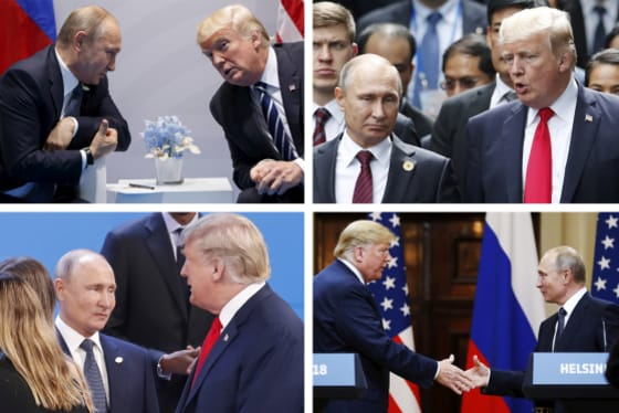 Trump Putin meetings composite