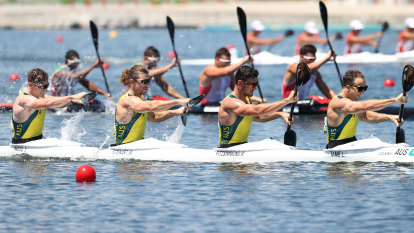 Australia's hopes of best gold haul dwindle as K4 crews miss out on medals