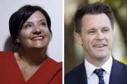 NSW Labor frontrunners: Jodie Mckay and Chris Minns .
