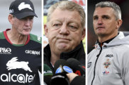 Musical chairs: Wayne Bennett and Phil Gould had a handshake deal, but eventually Ivan Cleary landed the Panthers gig.