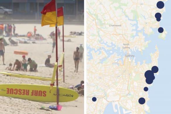 Maroubra rescues map composite