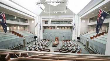 The House of Representatives, Parliament House, Canberra.