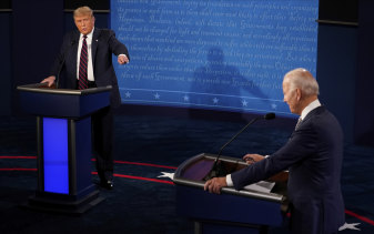 A terrible reality show: Trump v Biden, round one.