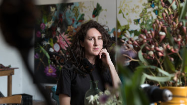 The painting artist Laura Jones was donating to a bushfire relief auction was stolen.