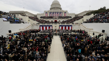 Attendees at Donald Trump's inauguration as 58th President of the United States.