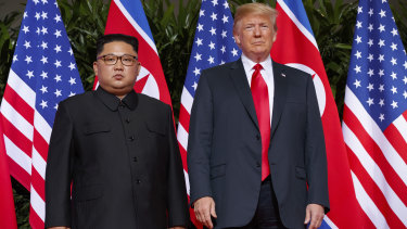 """Donald Trump said everyone could """"sleep well"""" now that there is no nuclear threat from North Korea."""