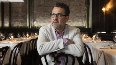 Nino Zoccali, pictured in his flagship restaurant Pendolino in the Strand Arcade, is launching a lawsuit against the property developers at Circular Quay where he was scheduled to open a major restaurant called Venetian Republic.