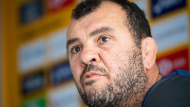 Planning ahead: Wallabies coach Michael Cheika has a big job ahead of him this year with the Rugby World Cup in sight.