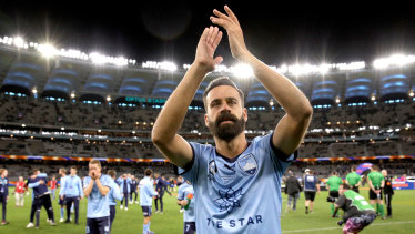 Finals re-think: Retiring Sydney great Brosque called for finals to be scrapped after winning the 2019 decider in Perth.