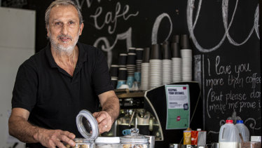 """Locals stay local and help spend at local cafes"": Salvatore Gallifuoco, owner of Cafe Sorelle in Waverley."