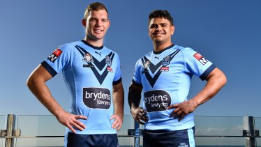 Tom Trbojevic and Latrell Mitchell played together for NSW – now the Mitchell is plotting a way to stop his Blues teammate.