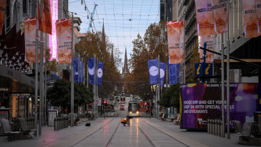 Melbourne was deserted on the first day of winter.