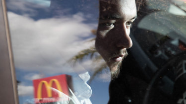 Darcy Dunlop says he was denied breaks in his time working for McDonald's.