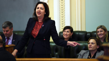 Premier Annastacia Palaszczuk spent another day in question time defending Deputy Premier Jackie Trad on Friday ahead of the state conference.
