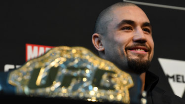 Whittaker had to pull out of his last scheduled fight in Melbourne.