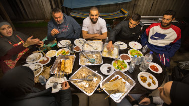 Adam Saad breaks the Ramadan fast with his mum Nejme, father Zafir, and brothers Muhammad and Noah.