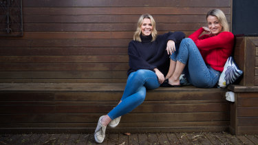 An intense and unconditional relationship: friends and co-workers Zara McDonald, left, and Michelle Andrews.