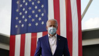 Democratic candidate Joe Biden speaks in Florida on Tuesday.