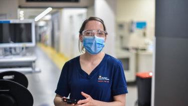Royal Melbourne Hospital intensive care nurse Annette Dlugogorski.