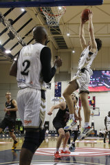 Josh Giddey soars for a dunk during the NBL Cup in March.