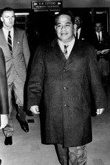 The founding President of Nauru, Mr. Hammer DeRoburt, arrives in Sydney on June 18, 1968