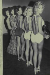 Back stage at the Miss America Pageant in Atlantic City in 1985.