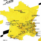 The 2020 route of the Tour de France.