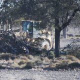 Land clearing on a property near the in northern NSW.