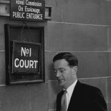 Fergan O'Sullivan attends the royal commission on espionage in August 1954,  in the wake of the Petrov affair.
