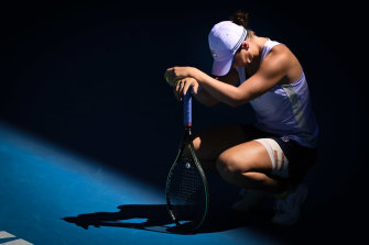 Ashleigh Barty has been knocked out of the Australian Open in the quarter-finals.