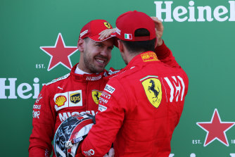 Clear air: Sebastian Vettel and Charles Leclerc have put the crash in Brazil behind them, according to Ferrari.