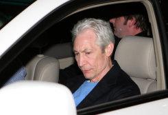 Rolling Stones drummer Charlie Watts leaving the Hyatt on the Park in 2006.