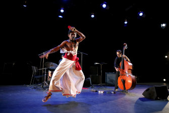 Baliphonics, a Sri Lankan group, perform music inspired by traditional rituals.
