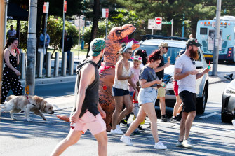 Locals in Coogee on Easter Sunday.