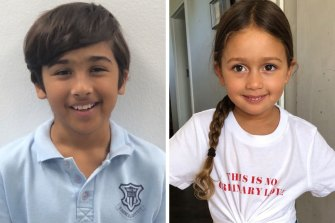 Missing children: Basten and Bowie Dowlut, aged 10 and four.
