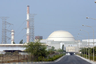 The Bushehr nuclear power plant, outside the southern city of Bushehr, Iran, in 2010.