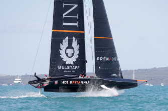 INEOS Team UK competes against Emirates Team New Zealand in December.