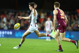 Max King booted three goals for the Saints in their win over the Lions.