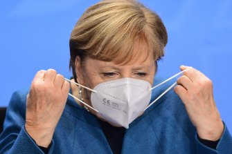 "German Chancellor Angela Merkel is reportedly considering a ""mega-lockdown""."
