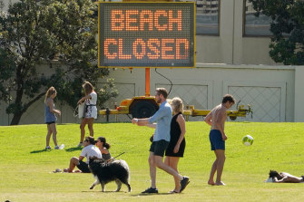 Re-opening public spaces such as parks and beaches for gatherings would depend highly on people adhering to social distancing, experts say.