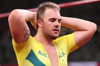 Frustration shows: Australia's Matthew Denny