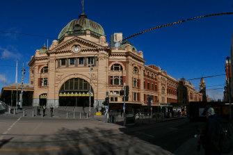 Flinders Street Station on Thursday.