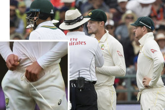 Cameron Bancroft was caught on camera tampering with the ball during the Test in South Africa.