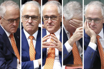 The many faces of Malcolm Turnbull as prime minister.