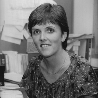 Brockie as a young reporter at the ABC's Nationwide in 1983.