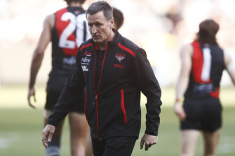 Essendon's chairman has more than once cited Nathan Buckley and Damien Hardwick when defending Worsfold.